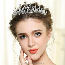 new coming fashion handmade wedding hair accessories <strong>crown</strong>