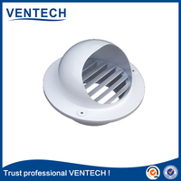 aluminum ball wether air louver, HVAC vent cap for outside wall