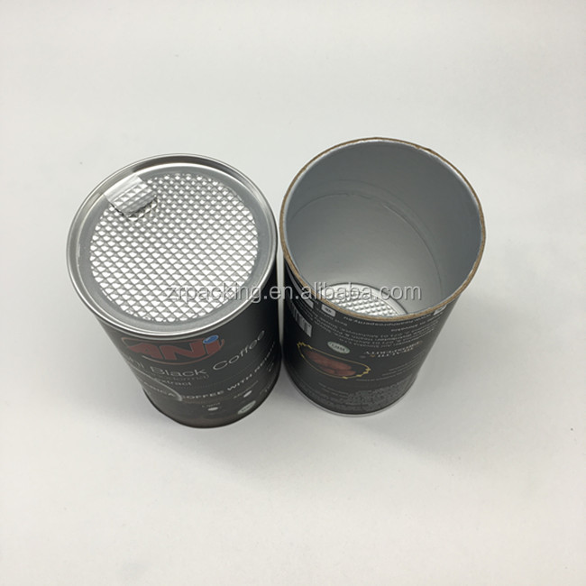 airtight sealing food grade paper packaging tube for coffee
