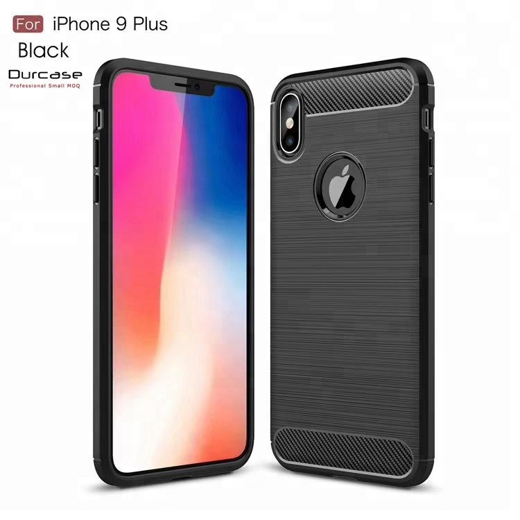 Customize Carbon Fiber Cover For Apple iPhone XS Max Soft TPU Phone Case