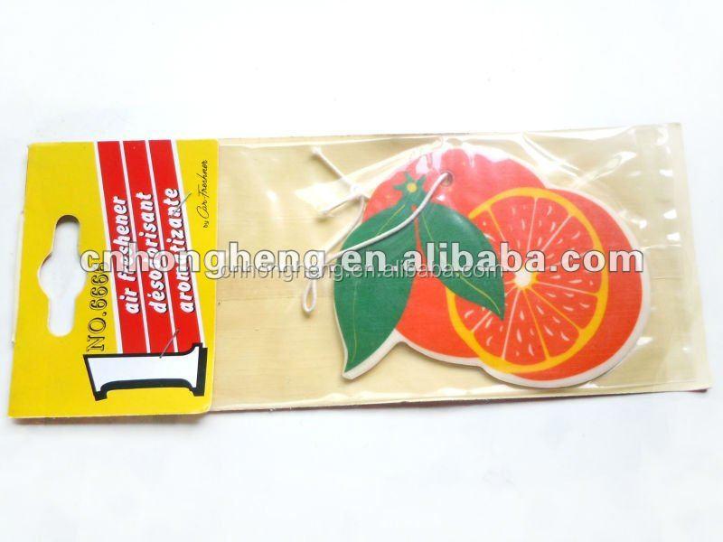 Orange paper air freshner for home/hotel