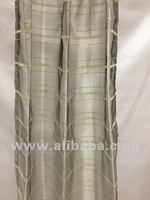 Fashion Grid line Voile curtain sheers