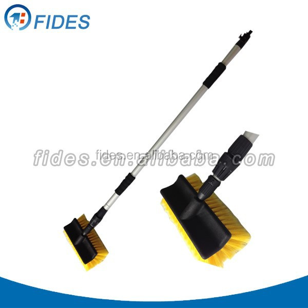 water flow car cleaning brushes with long handle