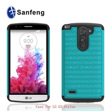 Plastic sublimation phone case for Lg optimus g3 stylus g4 smart cover with rubber material