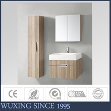 Luxury high reputation good quality MDF antique bathroom vanity mirror cabinet with artificial stone resin basin