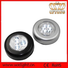 3 Led Battery Powered Push Button Led Touch Light