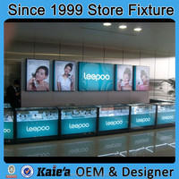 Most popular mobile phone store interior design with display counter