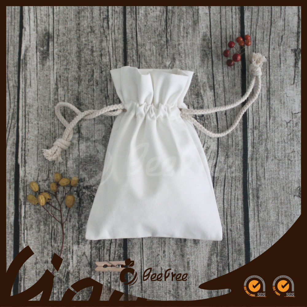 Handmade Personal Gift Pouch, Cotton Canvas Drawstring Pouch Bag