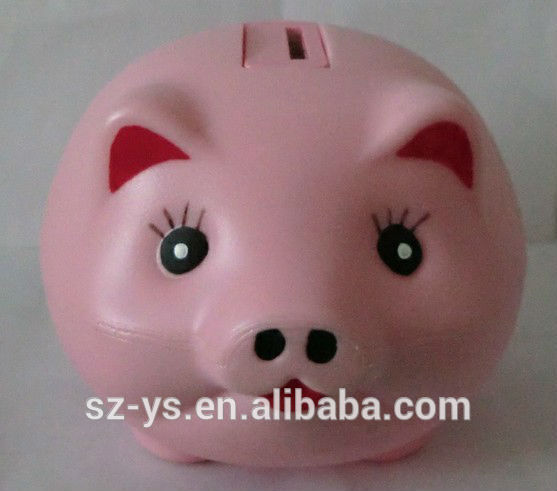 Plastic Soft Animal Shape Piggy Bank/money box/coin bank