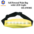 Outdoor adjustable super bright sport led running waist belt,no battery