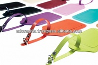 ADAPLT - 0058 travel bright colored luggage tags / luxury leather luggage tags / leather golf bag tags with your logo