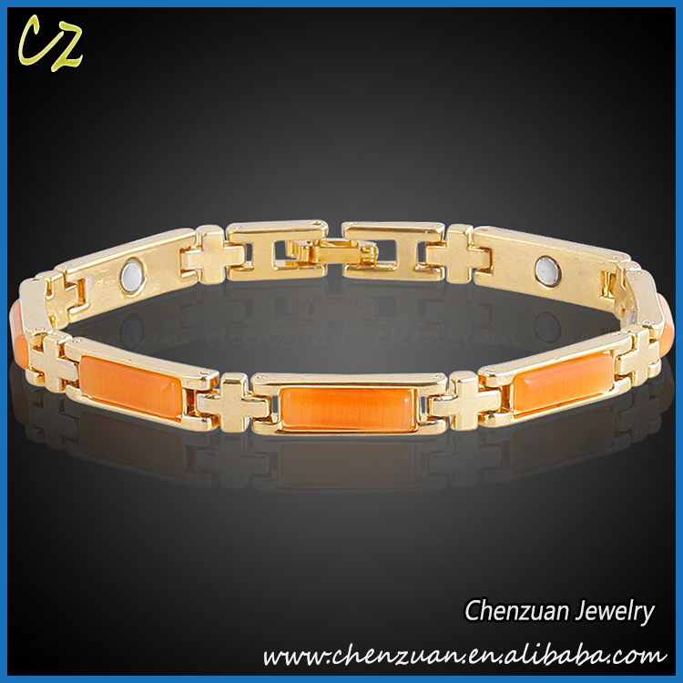 Cheap fashion 18k gold plated jewelry opal inlay india brass bangle