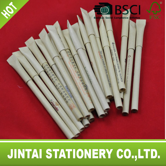 promotional recycled paper ball- point pen make OEM