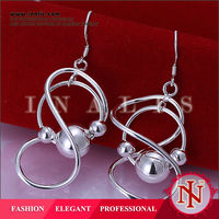 Handmade saudi styles silver plated jewelry organizer earrings E071