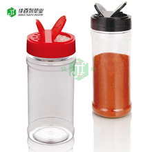 China suppiler free sample Food contact Cheap 8oz pet plastic pepper spice jar