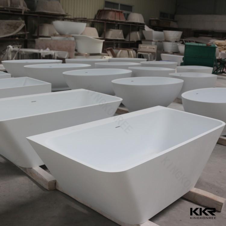 Tipo de instalación independiente y independiente bañera de resina ...