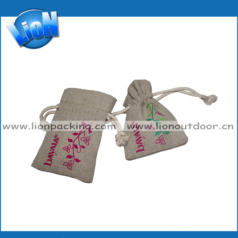 Excellent quality best selling flax drawstring pouch for coffee