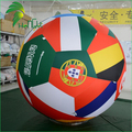 Amazing Double Layer Design Waterproof Beach Ball Inflatbale National Flag Banner Sphere Balloon
