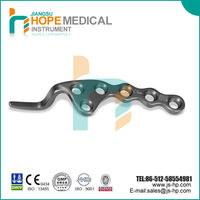 Surgical clavicle hook locking compression plate, orthopedic implants, titanium, low price, Hope Medical