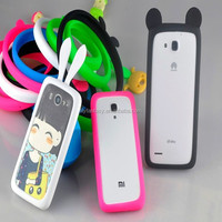 Wholesale - Lovely Bunny Rabbit Ears with Tail Silicone Skin Cover Case For iPhone 4/4S