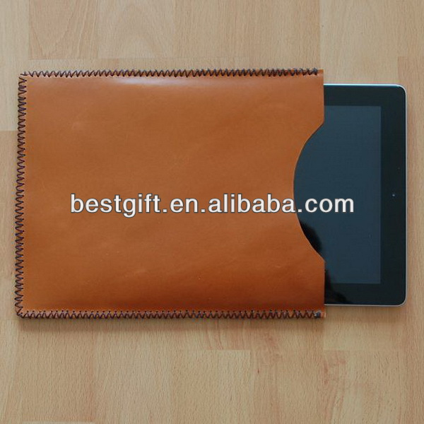 Hot simple design pu leather sleeve for ipad leather cases