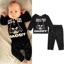 Newborn Baby Boy Girl Clothes Stars Print Long Sleeve Cotton Tops T-shirt+Long Pants 2pcs Outfit Set Bebek Giyim