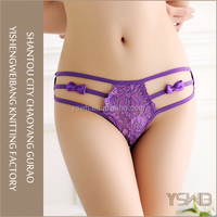 Mature purple lace g-string panty latest sexy transparent panty models
