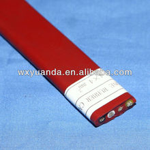 Silicone Rubber flat electrical wire 2.5mm cable
