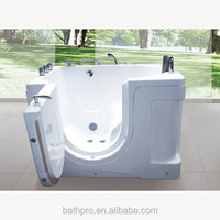 Acrylic water massage bathtub for old people and disable people