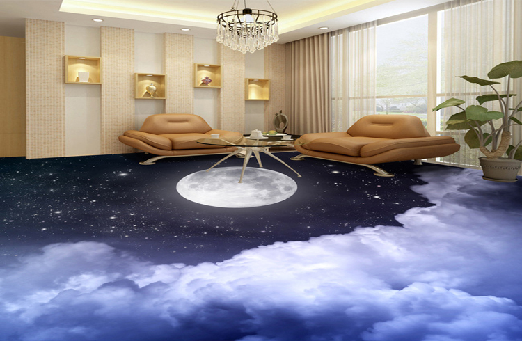 High quality 3d flooring 3d floor murals 60x60 view 3d for Living room 3d tiles