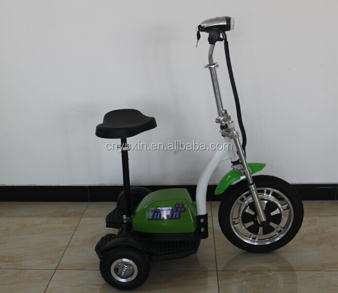 48v 500w 20ah lead acid battery passenger seat 3 wheel electric scooter / tricycle for handicapped
