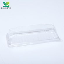 disposable transparent food plastic sushi tray container