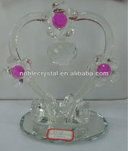 Heart Shape Crystal Sunflower Apple As Valentines Thankgiving Mother Day Gifts