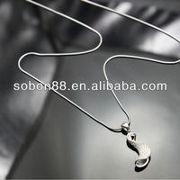 Fashion Jewelry Sterling Silver Pendant Necklace