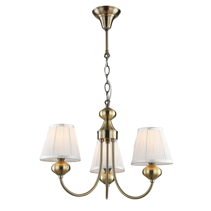 Top Sale Indoor Decoration 3 Lights Antique Brass Chandelier