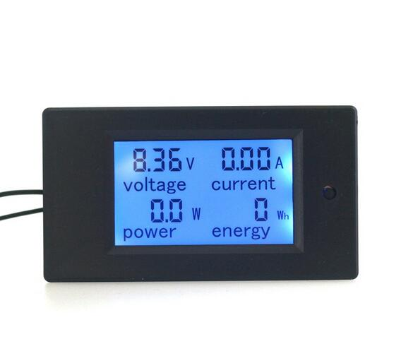 4 In1 Digital Ammeter Voltmeter DC 100V 20A Amp Volt Watt Power Energy Tester Meter LCD Blue Backlight Panel module