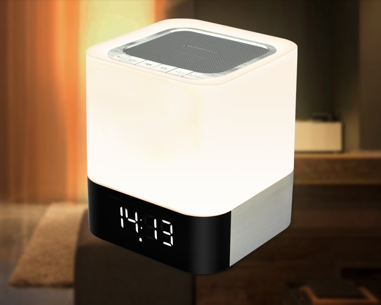 musky DY28 Bluetooth speaker, new arrival Bluetooth speaker with lamp, clock alarm portable speaker