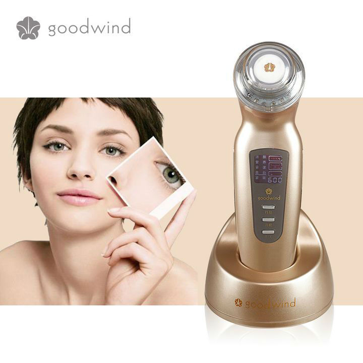 Goodwind CM-2A spot removal machine ultrasonic led light skin whitening face cleanser
