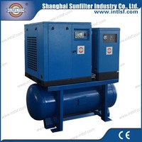 Electric start chemical direct drive air compressor