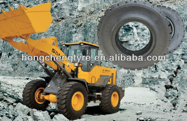 7.5-16 OTR rubber forklift solid tire