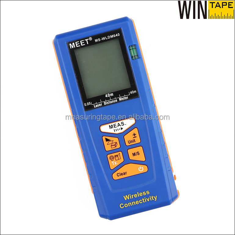 40m Bluetooth Connected Precision Laser Area Measurement Instrument