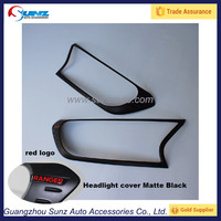 For Ford Ranger T6 T7 2016 Pickup New 4x4 Head Lamp Cover Matte Black with red logo sticker