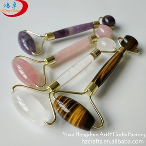 Yellow tiger eye roller massager natural facial massage manufacturer