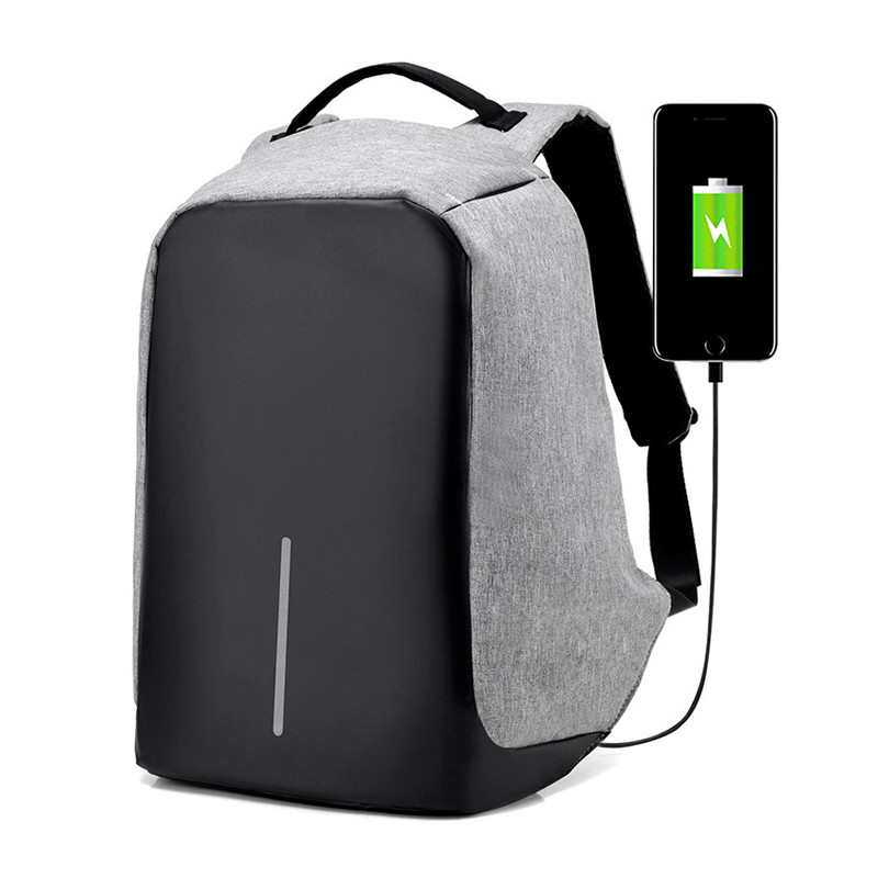 Waterproof School Bags College Teenage Laptop Backpack Men Travel Security USB Charge Anti Theft Backpack