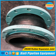 Pipe Vibration Isolator DIN standard PN25 Rubber Expansion Joint with SS Flange