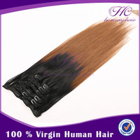 30 inch human hair extensions clip in for white women