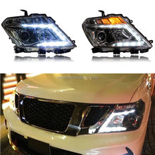C Shaped LED Composite Headlight Assembly Set For Nissan Patrol Y62 2010-2016