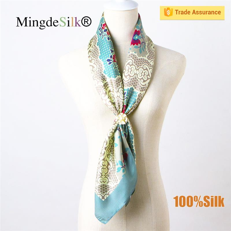 digital printing silk satin new promotional designer scarf wholesale china neckerchief