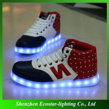 Top quality glowing shoes/glowing led shoes for reseller