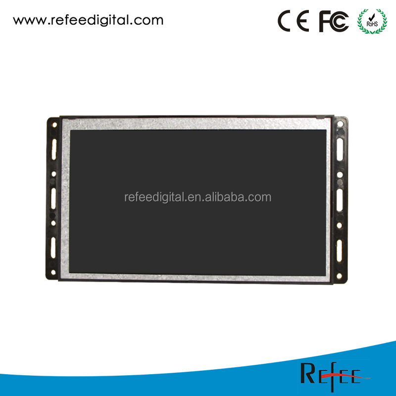 "7"" 1024*600 Advertising Display LCD with Plastic Open Frame"
